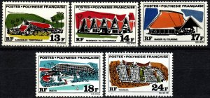 French Polynesia #253-7 MNH CV $35.25  (X1411)