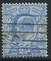 GB Edward VII  SG 276   used light reverse tone spot