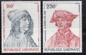 Gabon, Sc C213-C214, MNH, 1978, Albrecht Durer, (LL00948)