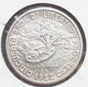 1952 Cuba Silver Coin10c Circulated