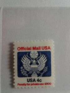 SCOTT # O128 4 CENT OFFICIAL MAIL USA MINT NEVER HINGED