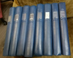 1 LINDNER 18 RING ALBUMS Blue in color, VERY GOOD CONDITION