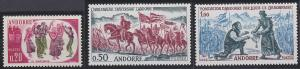 Andorra - French Issues 155-157 MNH (1963)