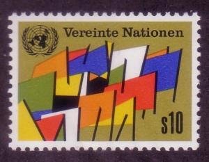 UN Vienna Sc# 6 Flags MNH