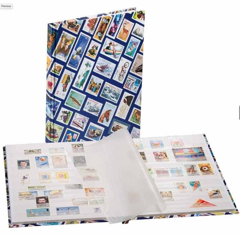 NEW Lighthouse 339105 HOBBY Stockbook A4 Stamp Motif - Retail $25