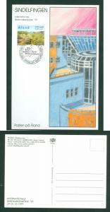 Aland. Card 1999. Int. Briefmarkenborse99 Sindelfingen,Germany. Scott # 157.