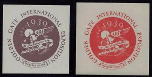 1939 Scarce Golden Gate International Exposition Cinderella Poster Stamps MNH S2