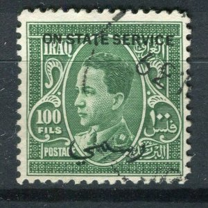 IRAQ; 1934 early Ghazi STATE SERVICE issue used 100f. valu