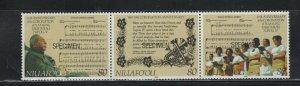 Tonga - Niuafo'ou #150 (1992 Kings Coronation 80p strip) VFMNH SPECIMEN CV $5.00