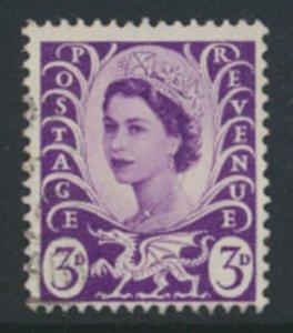 GB  Regional  Wales  SG W1 wmk multiple crown Used  1958 SC# 1  See scan