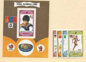 Mongolia, 1751-55, Olympic Games Singles & S/S, MNH