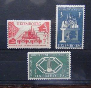 Luxembourg 1956 European Coal and Steel Community set MNH
