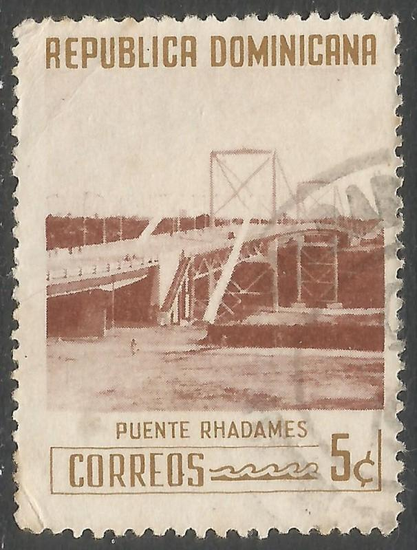 DOMINICAN REPUBLIC 521 VFU BRIDGE 541G-2