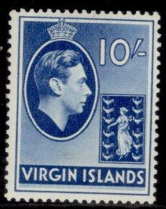 BRITISH VIRGIN ISLANDS GVI SG120, 10s blue, LH MINT.