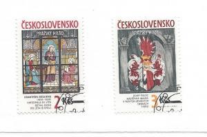 Czechoslovakia, 2654-55, Prague Castle Type CTO Singles, NH