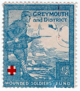 (I.B) New Zealand Cinderella : Greymouth & District Wounded Soldiers Fund ½d