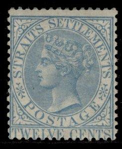 MALAYSIA - Straits Settlements QV SG15, 12c blue, M MINT. Cat £250.