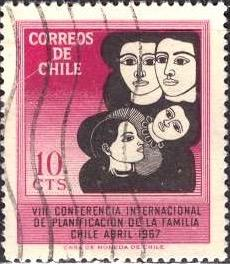 Chile 1967: Sc. # 362; O/Used Cpl. Set