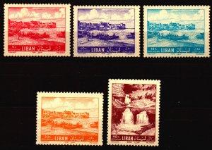 Lebanon Unused NH Scott C317 - C320 and C322