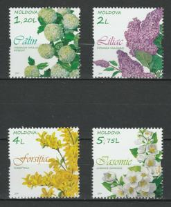 Moldova 2019 Tree Flowers 4 MNH stamps