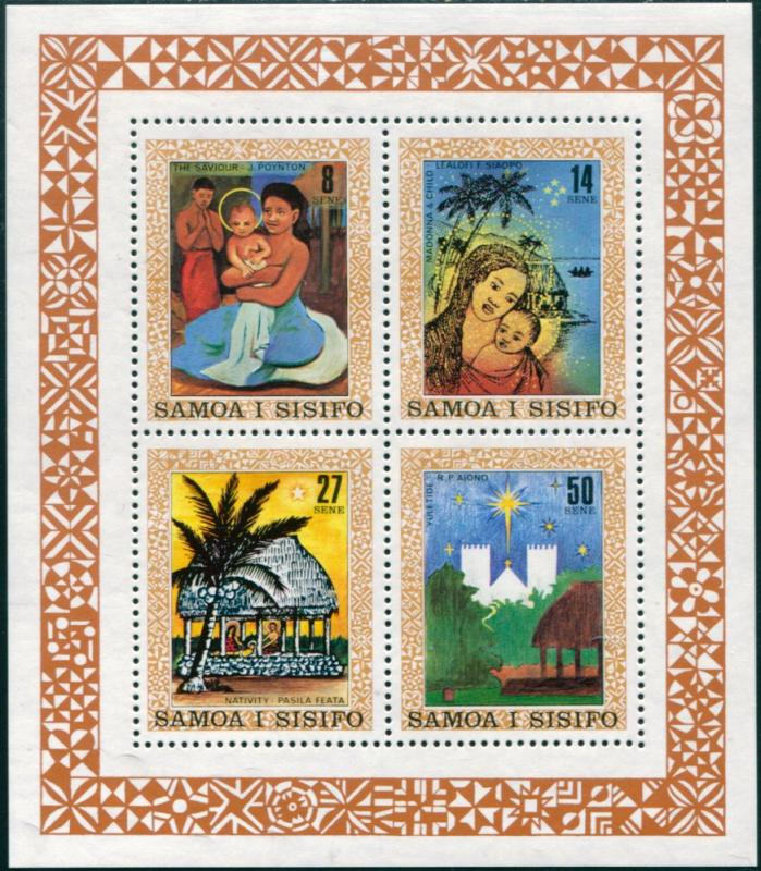 Samoa MNH S/S 583 Christmas 1980