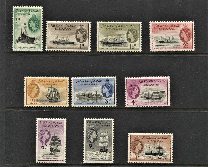 STAMP STATION PERTH -Falkland Is.Dep.#1L19-1L28 Definitive MNH OG VF Short Set
