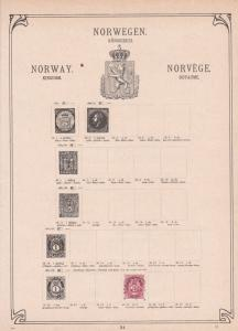 norway  stamps collection on album pages ref r8722