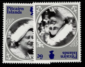 PITCAIRN ISLANDS QEII SG268 + 268w, 6c watermark varieties, NH MINT.