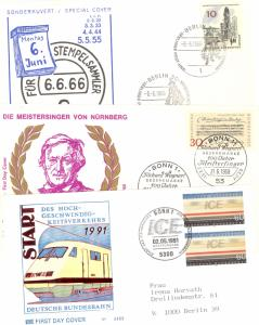 Germany  Richard Wagner , plus 2 other FDC VF