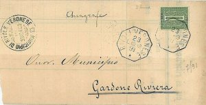 ITALIA REGNO - MANIFESTO CIRCOLARE annullo collettoria RIVAROLO VERONESE  - 1891