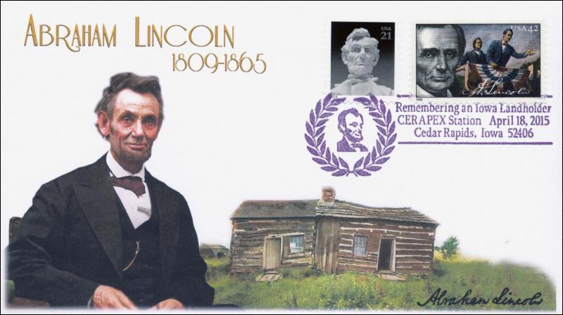 2015, Abraham Lincoln, Landholder, Cedar Rapids Iowa, 15-095