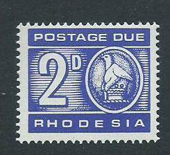 Rhodesia SG D13  MLH   Postage Due  1966 issue
