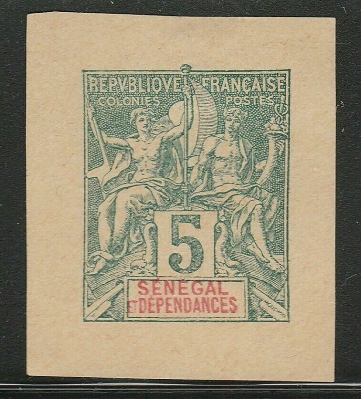 French Senegal France Postal Stationery Cut Out A17P2F380