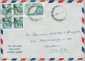 67207 - BRAZIL - Postal History -  COVER to ITALY 1976  -  MINING  Gold