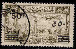 Syria Scott C152 Used surcharged 1948 Airmail stamp