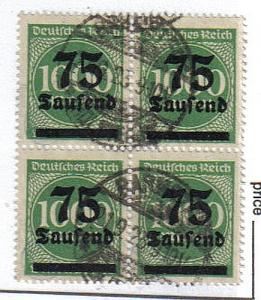 Germany Inflation lot 271, 281 and 288II all expertized