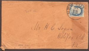 #9 ON COVER FROM NEW YORK TO VIRGINIA CV $150 BL195