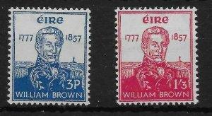 IRELAND SG168/9 1957 ADMIRAL BROWN SET MNH