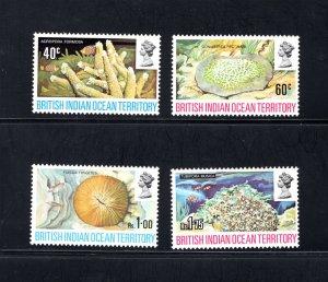 British Indian Ocean Territory, Scott 44-47  VF,  Unused, CV $18.00 .... 0870030