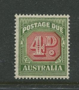 Australia - Scott J75 -Postage Due Issue -1952- Wmk 228 - MNH -Single 4d stamp