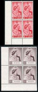 St Lucia 1948 Royal Silver Wedding SG144/5 U/M (MNH) BLOCK OF 4