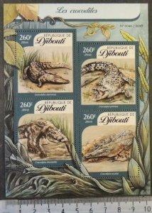 Djibouti 2016 crocodiles reptiles m/sheet mnh