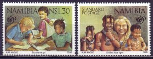 Namibia. 1996. 813-14. 50 years of UNICEF. MNH.