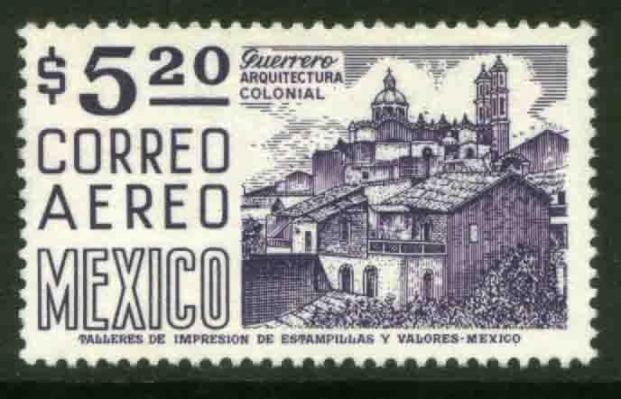 MEXICO C449, $5.20 1950 Def 8th Issue Fosforescent coated. MINT, NH. F-VF.