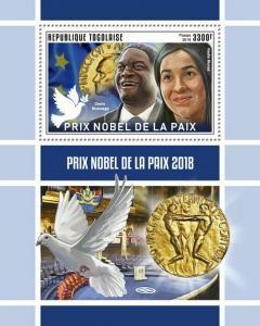 Z08 IMPERF TG190146b TOGO 2019 Nobel Peace Prize MNH ** Postfrisch