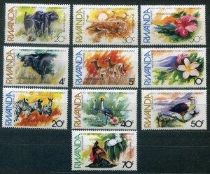 1982 Rwanda 1196-1205 Fauna and flora 7,50 €