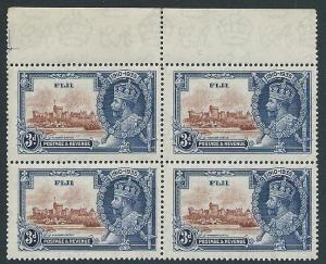 FIJI 1935 Silver Jubilee 3d block of 4 MNH.................................47589