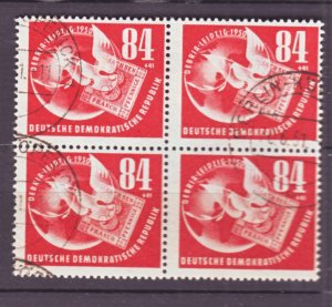 J22444 Jlstamps 1950 germay ddr blk/4 used #b21 dove