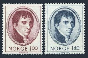 Norway 621-622,MNH.Michel 666-667. Jacob Aall,industrial pioneer,1973.