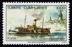 TURKEY Stamp  1989 Steamers MNH STAMP 1000L $12
